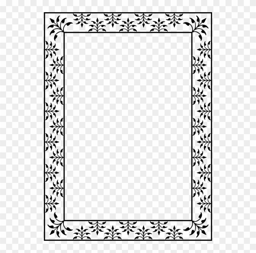 Picture Frames Borders And Frames Coloring Book Molding - Coloring Book Border Clipart #2845719
