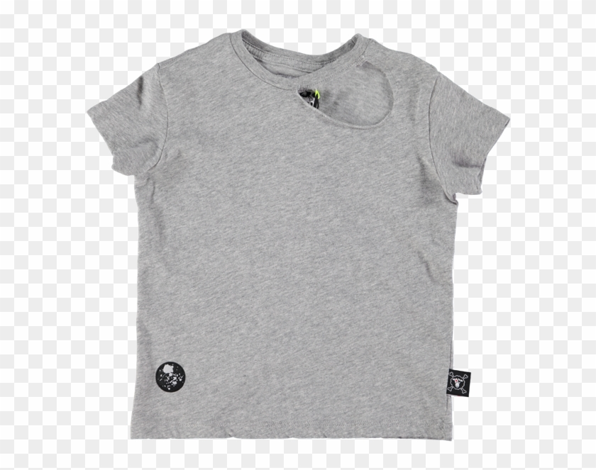 Picture Of Ripped T- Shirt Grey - Active Shirt Clipart #2853137