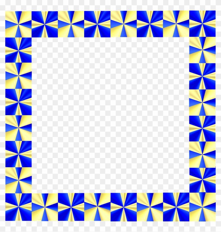 Frame Border Gold Blue Shiny Png Image - Border Design Frame Clipart #2858726