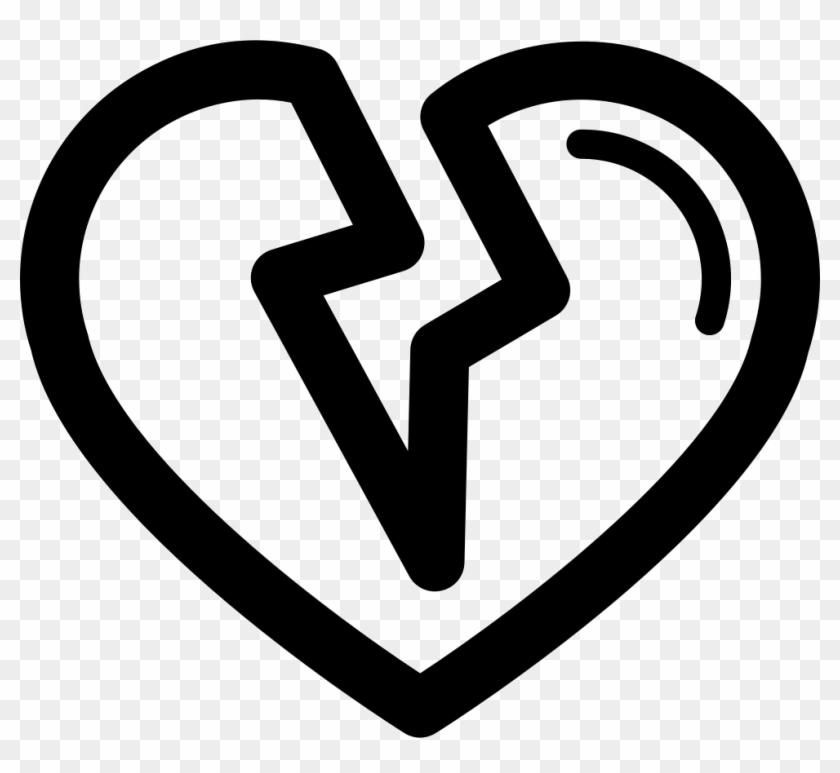 Broken Heart Outline Png - Heartbroken Png Clipart #2862084