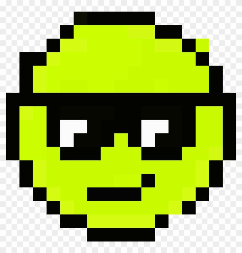 The Cool Emoji - Pixel Art Emoji Clipart #2864246