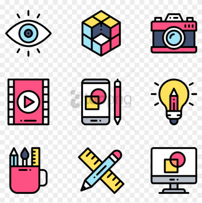 Free Png Art & Design 50 Icons - Web Design Icon Clipart #2869481