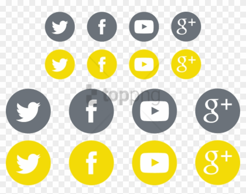 Free Png Social Media Icon Sets For Your - Social Media Follow Png Clipart #2869757