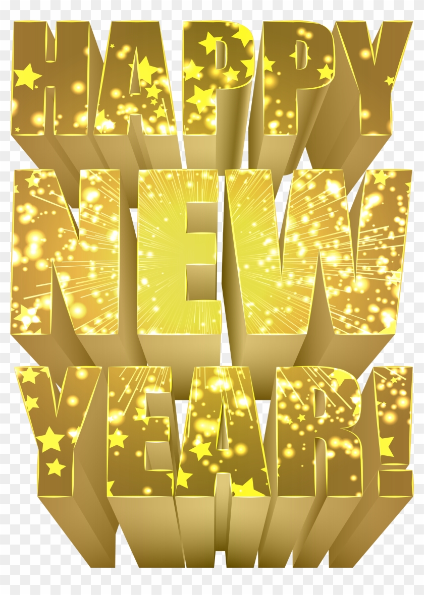 Happy New Year Gold Png Clip Art Image Happy New Year Gold Png Transparent Png 2871191 Pikpng