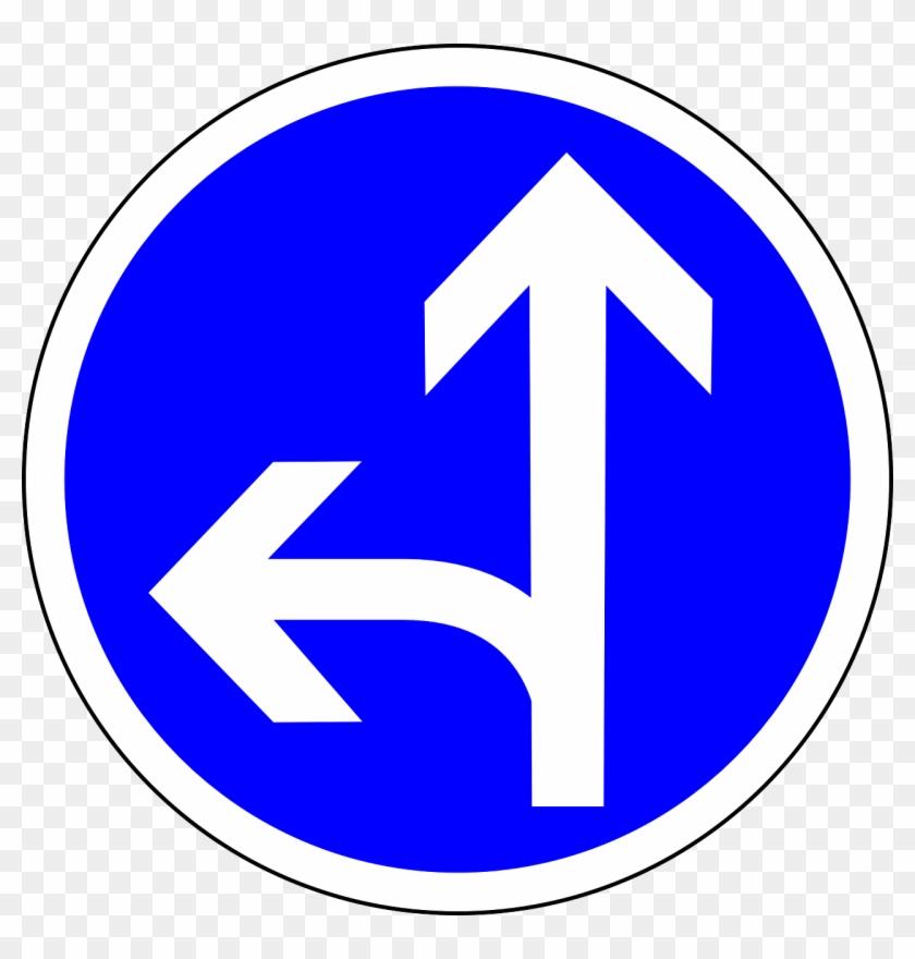 Go Straight Or Sign, - Go Straight Or Left Clipart #2882151
