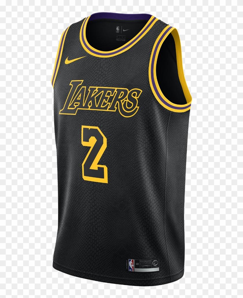 Lonzo Ball City Edition Swingman Jersey Men's Nike - Lakers Jersey Lebron Black Clipart #2886309