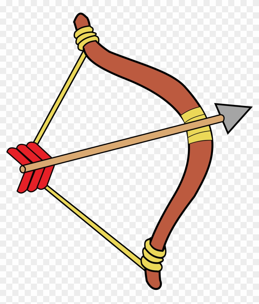 Weapon Arrow Cliparts - Bow And Arrow Clipart Png Transparent Png #2891632