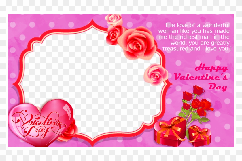 Valentines Day Frame Png Pic - Valentines Day Photo Frame Png Clipart #291560
