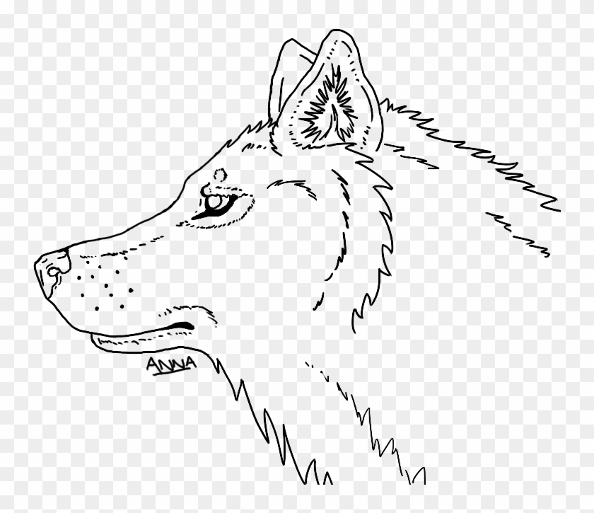 Wolf Head - Line Drawing Wolf Head Clipart #293101