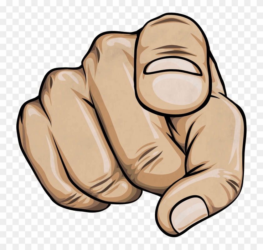 738 X 720 42 - Finger Pointing At You Transparent Clipart #293985