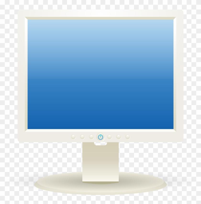 Monitor Clipart Computer Screen - Computer Monitor Clip Art - Png Download #294443
