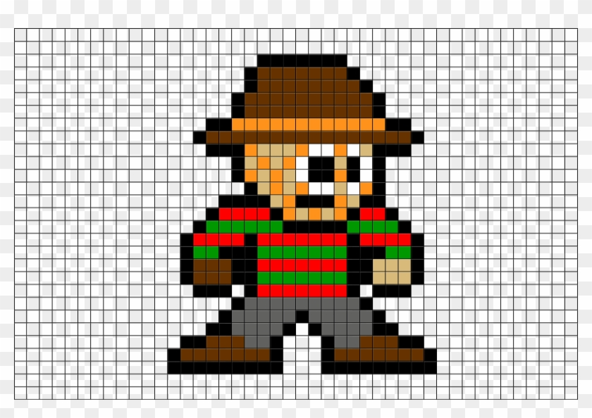 Pixel Art Freddy Krueger Hd Png Download 298523 Pikpng