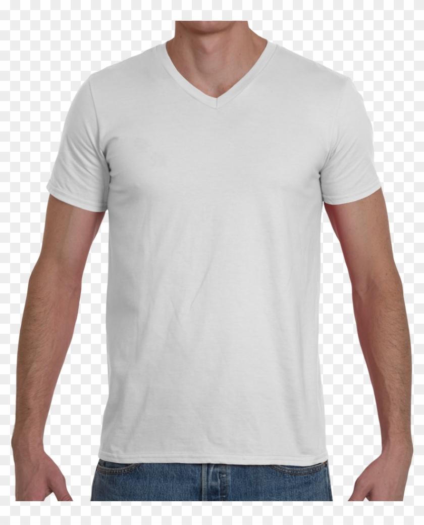 Soft Spun Fashion Fit V Neck T Shirt - Polo Blanc De Marque Clipart #298547
