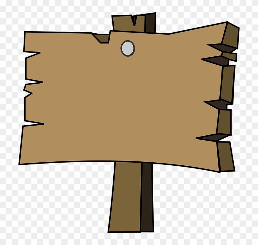 Cartoon Wooden Sign Png Clipart #299281