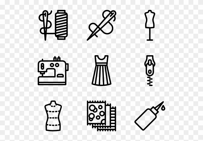 Sewing Elements - Sew Icon Clipart #299453