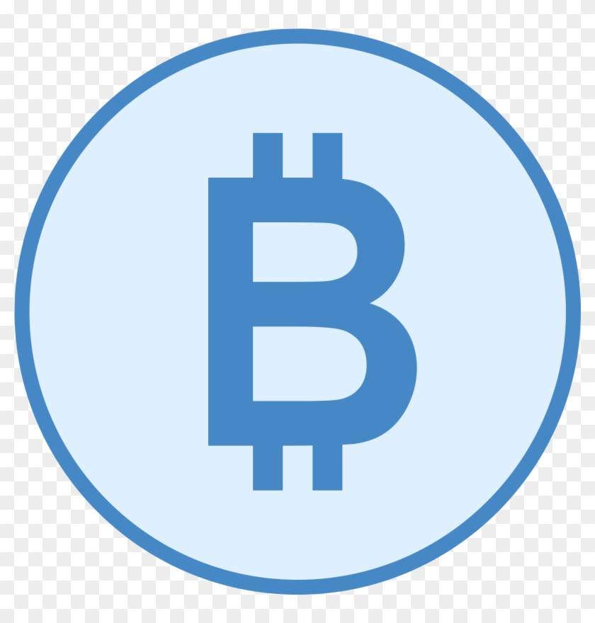 Bitcoin Png Blue Bitcoin Png Clipart 299455 Pikpng