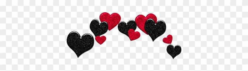 Png Overlay Edit Tumblr Sticker Hearts Red Black - Sticker Love Tumblr Transparent Clipart #2907821
