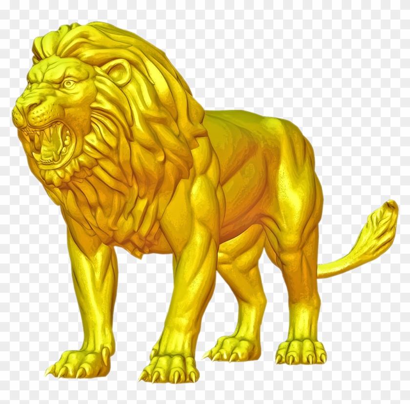 Lion Hd Png Image - Masai Lion Clipart #2912313