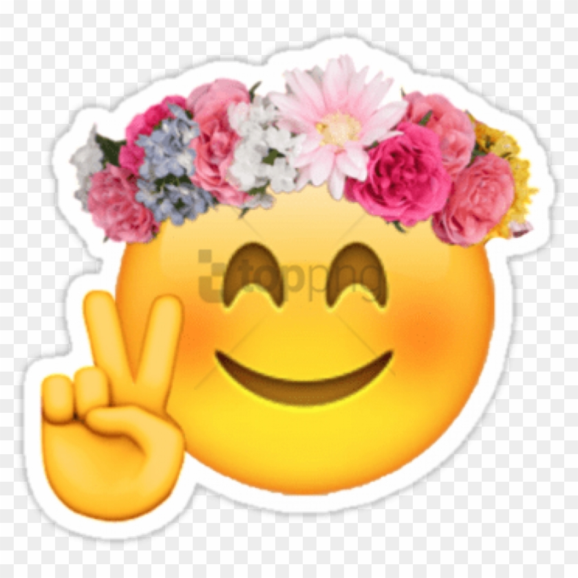Free Png Flower Emoji Transparent Png Image With Transparent - Snapchat Flower Crown Emoji Clipart #2914634