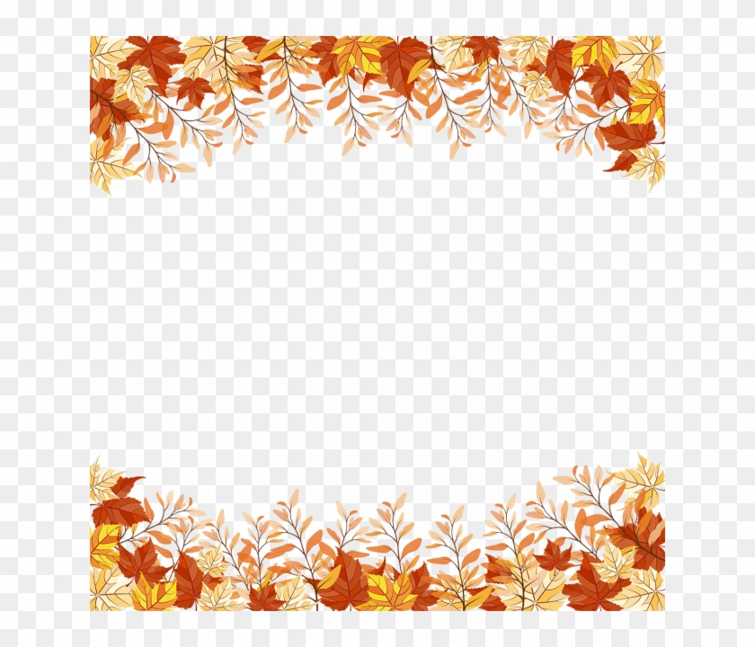 Autumn Leaves Frame Png Clipart #2918870