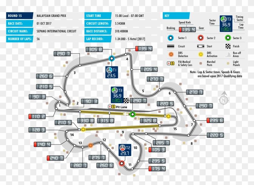 2017 Malaysian Grand Prix - Bahrain F1 2018 Map Clipart #2919254