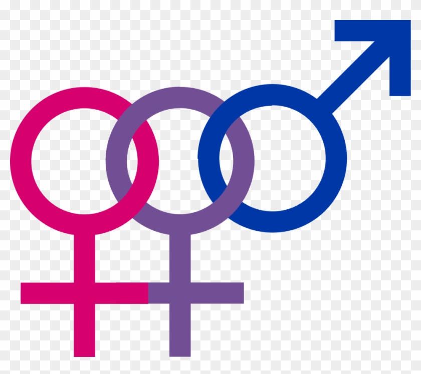Female Symbol Png Original File - Bisexuality Symbols Clipart #2922106