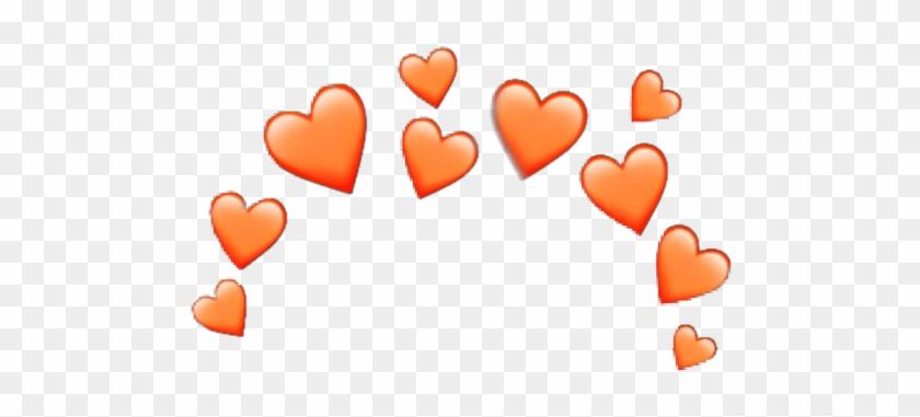 #orange #heart #crown #heartcrown #sticker #random - Broken Heart Crown Png Clipart #2925638