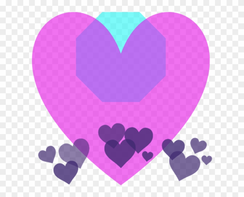 Transparent Background Heart Crown , Png Download - Purple Heart Snapchat Filter Clipart #2925693