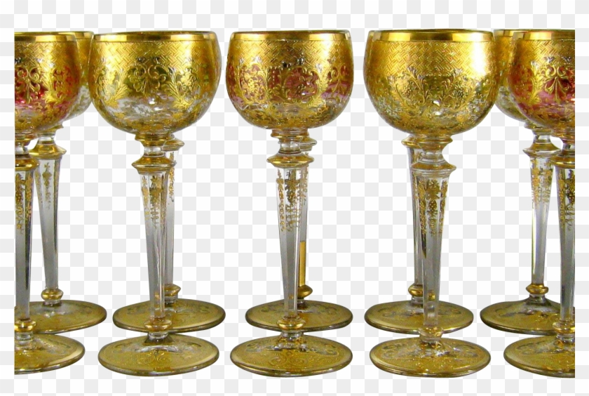 Gold Wine Glass Png - Gold Wine Glasses Clipart #2929152