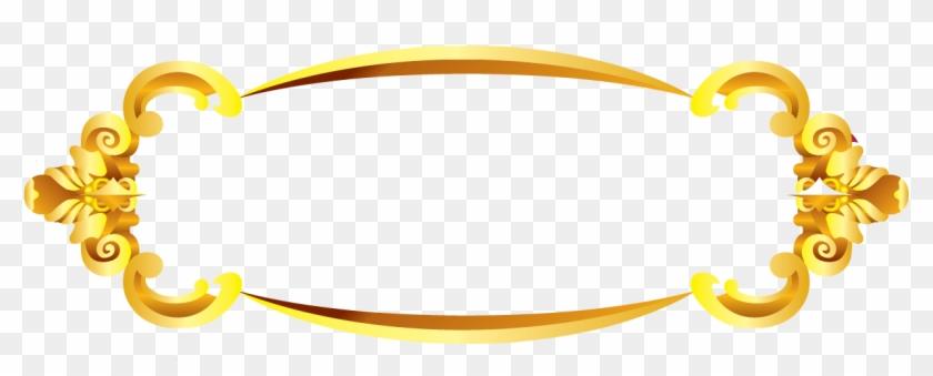 Gold Border Vectors Png Clipart #2929502