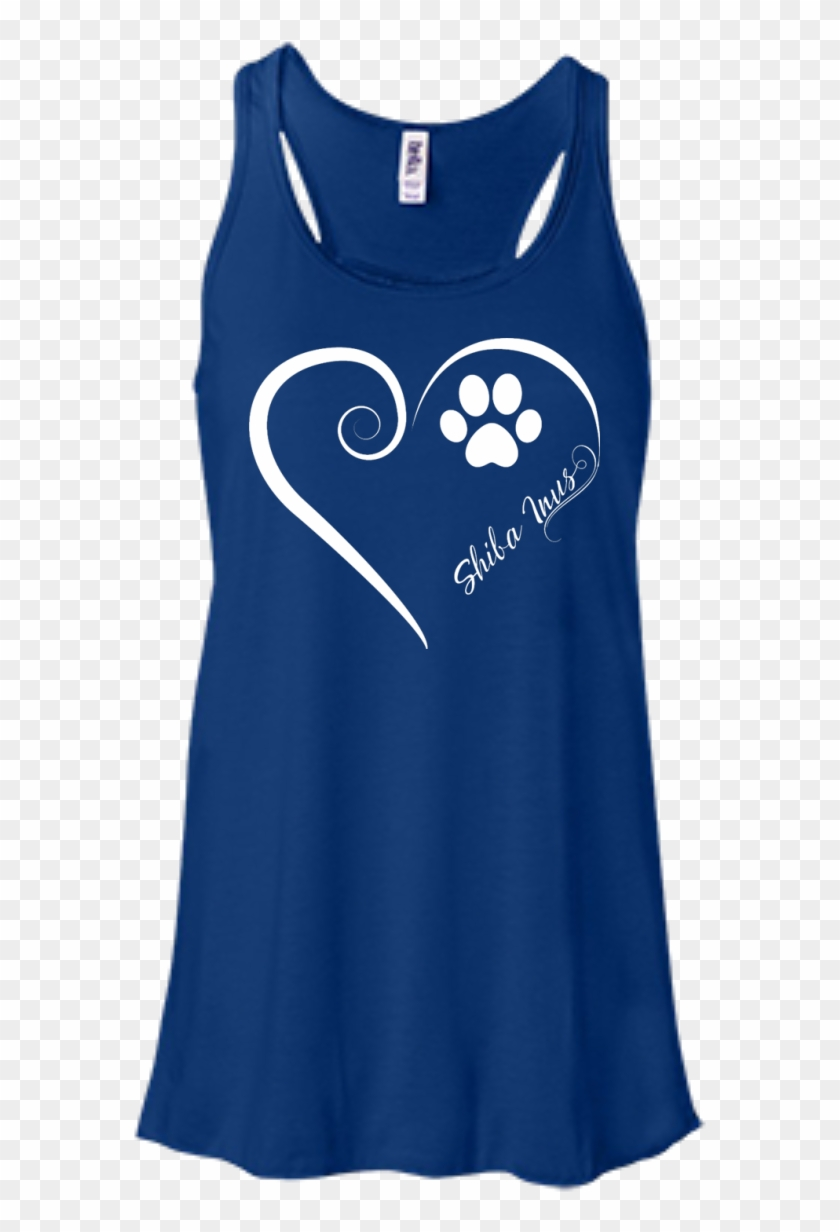 Shiba Inu, Always In My Heart Flowy Racerback Tank - Bella + Canvas Ladies' Flowy Racerback Tank B8800 Clipart #2932005