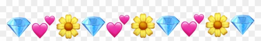 Flower Diamond Heart Emojis Freetoedit Png Diamond Clipart #2933538