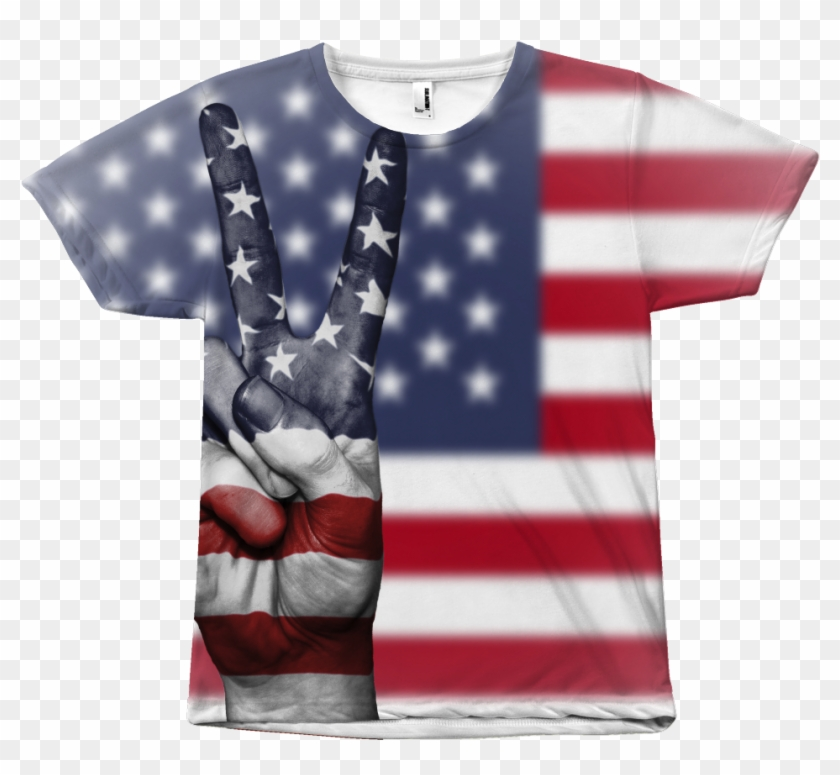 American Flag Shirt - United States Clipart #2937162