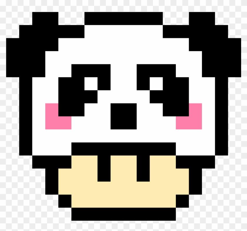 Panda Mario Mushroom Pixel Art Champignon De Mario Clipart