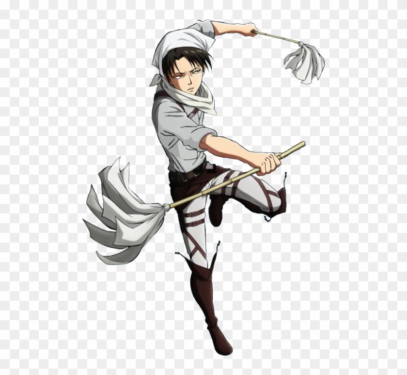 Attack On Titan Levi Cleaning Clipart 2942515 Pikpng
