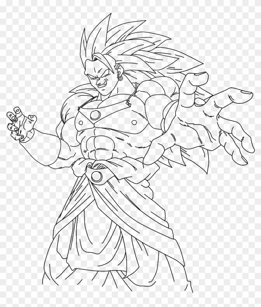 Broly From Dbz Free Coloring Pages - Dragon Ball Super Broly Para Colorear Clipart #2943756