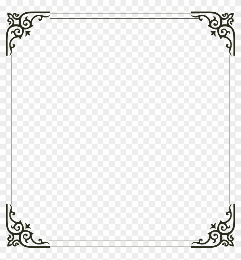 Picture Simple Frame Computer File Border Clipart - Simple Border Designs For Cards - Png Download #2949472