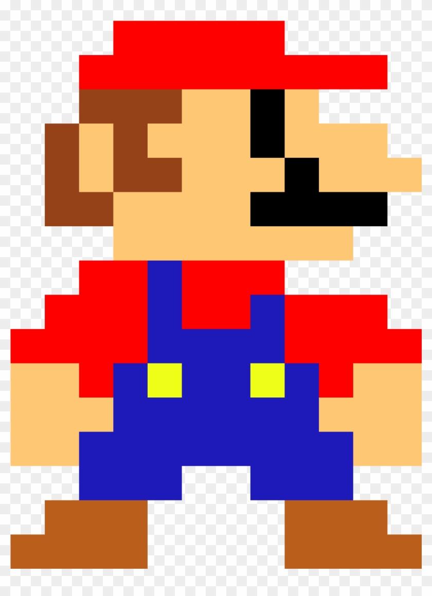 Mario Lul 8 Bit Mario Drawing Clipart 2955354 Pikpng