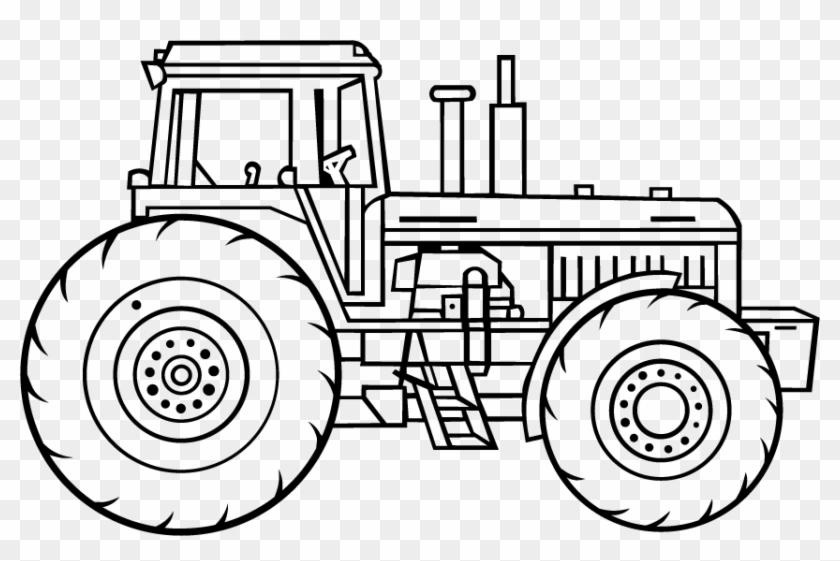 Drawing Tractors Lawn Mower Line Drawings Of Tractors Clipart 2960153 Pikpng