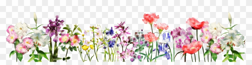Spring Flowers Banner Png Clipart #2962170
