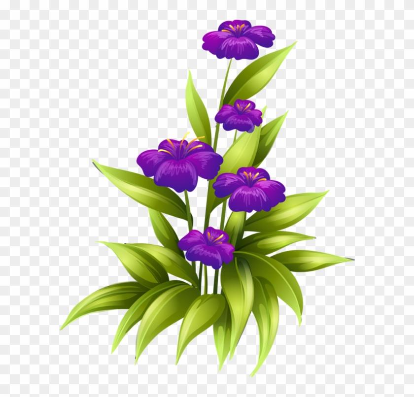 Fleurs,tube,flowers,png Transparent Flowers, Purple - Tubes Flower Png Clipart #2962824