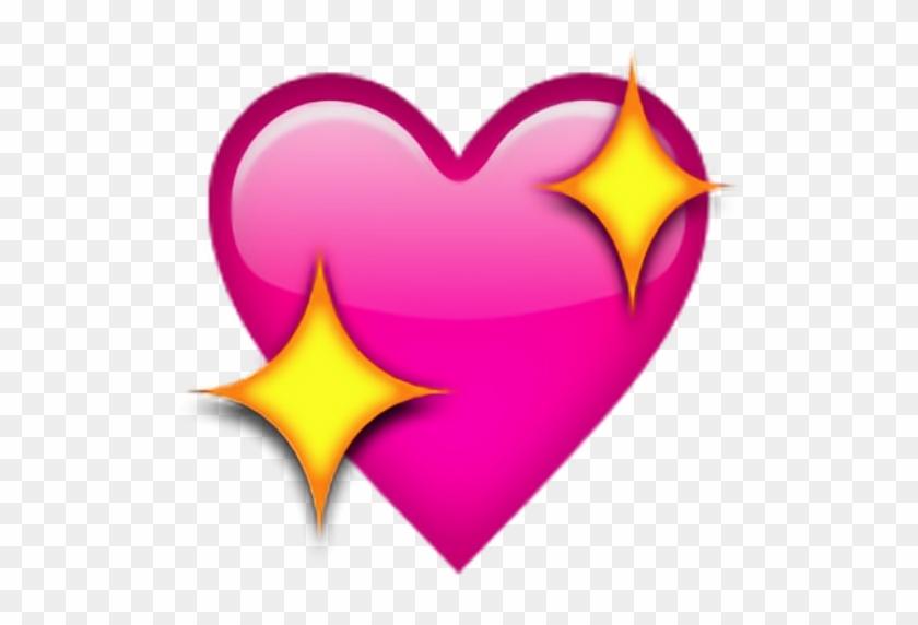 #sticker #enjoy #heart #iphone #heart #sparkles #shimmer - Pink Heart Emoji Small Clipart #2972855