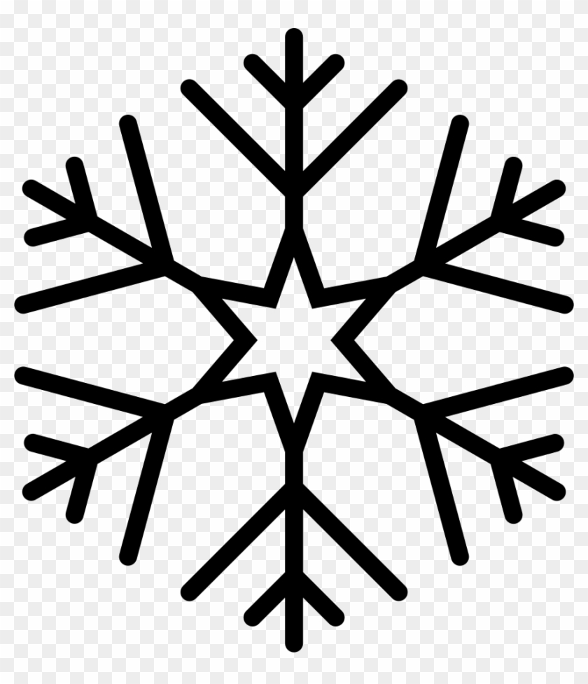 Png File - Snowflake Black Vector, Transparent Png #2974033