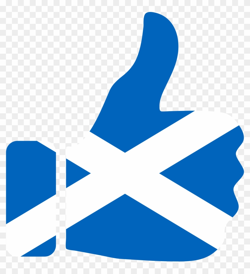 This Free Icons Png Design Of Thumbs Up Scotland - Scotland Flag Thumbs Up Clipart #2975724