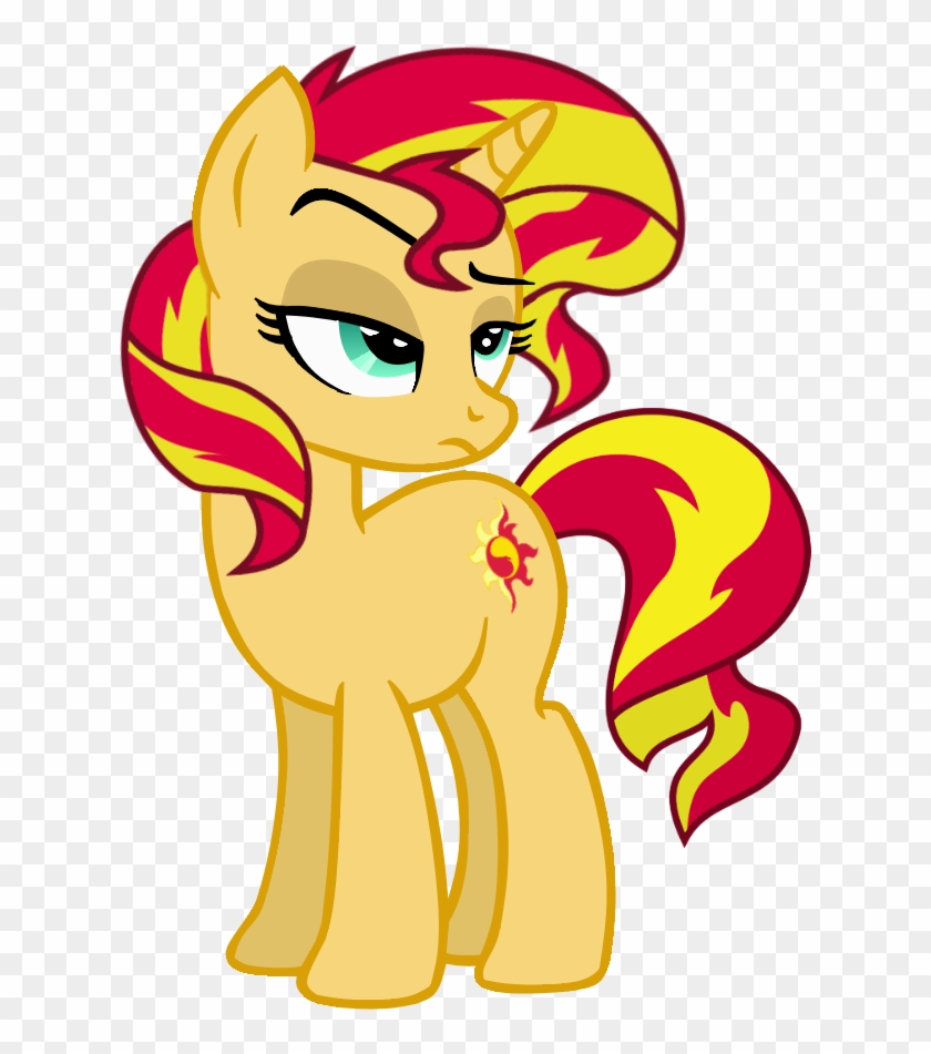 Sikander, Pony, Safe, Simple Background, Solo, Sunset - Sunset Shimmer Pony Png Clipart #2982186