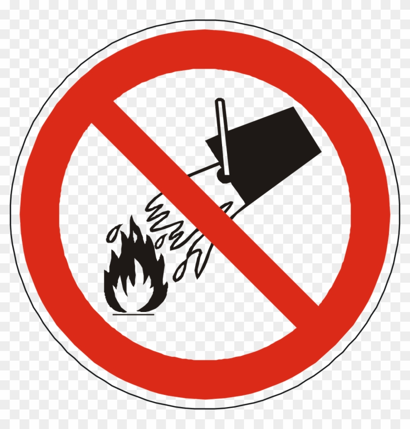 Free Vector Graphic - Do Not Extinguish With Water Symbol Clipart #2982916