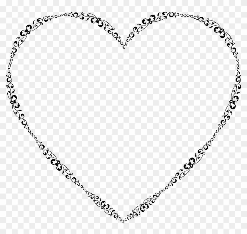 Heart Clipart Clipart Elegant Heart - Music Notes Heart Png Transparent Png #2987327