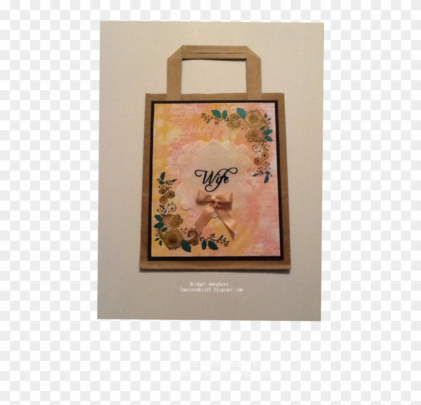 I Used One Of The Lace Border Stamps On This Bag - Craft Clipart #2992156