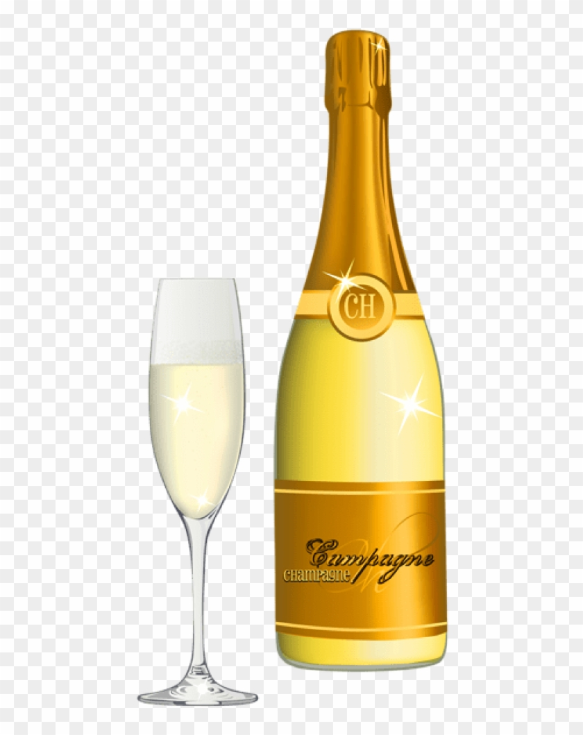 Free Png Download Champagne And Glass Png Vector Png - Party Wine Bottle Png Clipart #30465