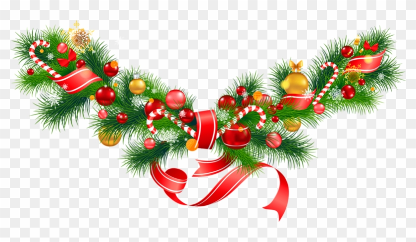 Christmas Garland Border Png - Christmas Decorations Clipart Png, Transparent Png #30530